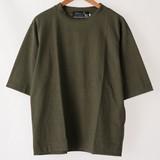 【2017年春夏新作】メンズ 天竺BIG5分袖Tシャツ<日本製>