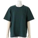【2017年春夏新作】レディース ボーダーポケット使い半袖Tシャツ<日本製>