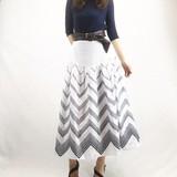 【Web展】(4月上旬納品)オリエンタル柄リネン風フレアロングスカート