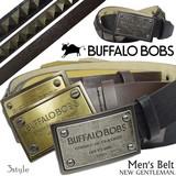 BUFFALO BOBSがこの価格!ベルト メンズ バッファローボブス 紳士 カジュアル 革