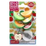 IWAKO Cut Fruit Set Blister Pack Eraser