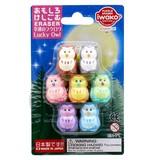 IWAKO Good Luck Owl Blister Pack Eraser
