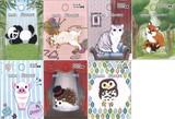 動物ワッペン2 パンダ/ネコ/キツネ/ブタ/ハリネズミ/フクロウ【入園入学】【大人かわいい】