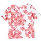 【値下げ!お買い得!】<綿100%>花柄スラブTシャツ