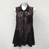Spring Lace Switching Vest