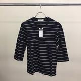【メンズ】綿100%7分袖ボーダーTシャツ