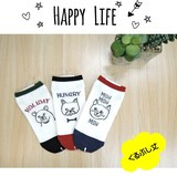 Graph Series Ankle Socks Happy Life