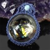 Superb Crystal Rainbow Quartz Macrame Pendant Head