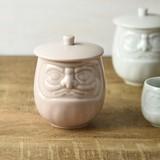 Daruma Attached Japanese Tea Cup Pink MINO Ware
