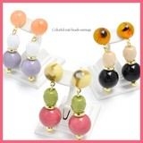 Colorful Mix Beads Pierced Earring
