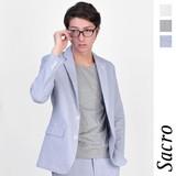 <春物新作>Sacro コードレーン テーラード ジャケット / メンズ 長袖 ストライプ サークロ
