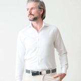 【2017春夏新作】ジャガード織りコットンカッタウェイ長袖カジュアルシャツ