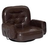 【直送可】【BX】フロアチェア座椅子<ガスレバー式リクライニング座椅子 ブラウン>