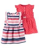 2017 S/S carter's One-piece Dress Set Candy Stripe