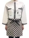 Restaurant Uniform Checkered Apron