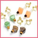 Marble Wood Beads Earring