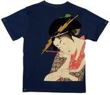 【大きいサイズあり】【期間限定セール 85%OFF  】和柄 Tシャツ 「美人画」