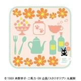 【魔女の宅急便】ミニタオル(フルールジジ/オレンジ)[613766]