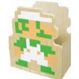 【スーパーマリオブラザーズ】木製ダイカット小物入れ(B/ルイージ)★30周年★[072054]