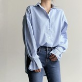 2017 S/S Leisurely Stripe Blouse Shirt