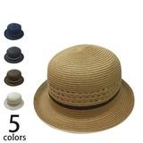【春夏】【メンズ】【天然ハット】ペーパーブレードボーラー 帽子