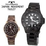 【TECHNOS】テクノス セラミックベゼル メンズウォッチ T6527
