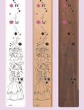 【送料無料】キャラクター木製身長計 ディズニープリンセス
