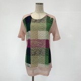 Spring Colorful Block Check Tunic