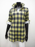 S/S Wire Layer Checkered Tunic