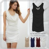 Shearing Body Dress One-piece Dress Sleeveless Chiffon Sexy