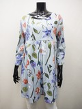 S/S Rayon Flower Print Switch Tunic