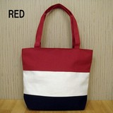 Tricolour Color Tote Bag Fastener