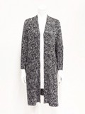 Tweed Print Long Jacket Pocket