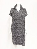 Tweed Print Attached One-piece Dress Pocket