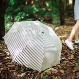 日傘 晴雨兼用 ストライプ 紫外線UVカット 折り畳み