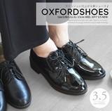 【即納】☆17SS☆人気沸騰中★マニッシュ-オックスフォード-おじ靴★ブラックエナメルSET♪