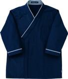 レストランユニフォーム-七分袖和風シャツ-ネイビー-