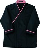 レストランユニフォーム七分袖和風シャツ-レッド-