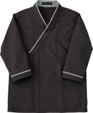 レストランユニフォーム七分袖和風シャツ-ブラウン-