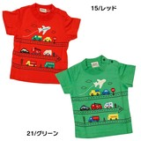 Car Pattern Airplane Applique Short Sleeve T-shirt