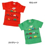 Car Pattern Airplane Short Sleeve T-shirt