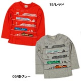 Train Shinkansen Applique Long Sleeve T-shirt