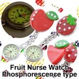 キラキラ フルーツ 畜光 ナースウォッチ アソート 懐中時計 看護士 医療 時計 アナログ