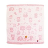 【■anano cafe】 AC.ベビー今治ベア刺繍ハンドタオル ピンク