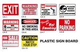 プラスチックのサインプレートでアメリカナイズ!【PLASTIC SIGN BOARD】
