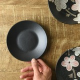 【特価品】ソフトデザイン マットブラック 12.7cm小皿[B品][日本製/美濃焼/洋食器]