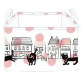 【黒猫ミィー】ストレージBOX(フラワー)[227867]