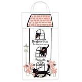 【黒猫ミィー】レジ袋ストッカー(フラワー)[227881]