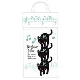 【黒猫ミィー】レジ袋ストッカー(ミュージック)[227898]