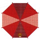 【くまのがっこう】[113]ジャンプ式長傘/50cm(レッド)★レイングッズ★